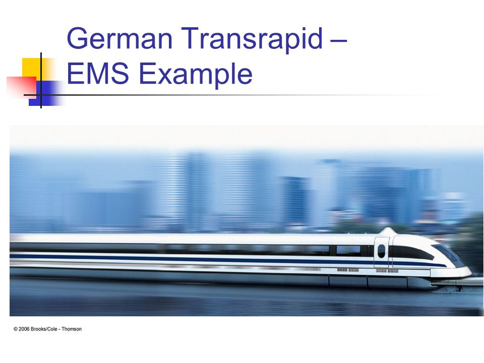 German Transrapid – EMS Example
