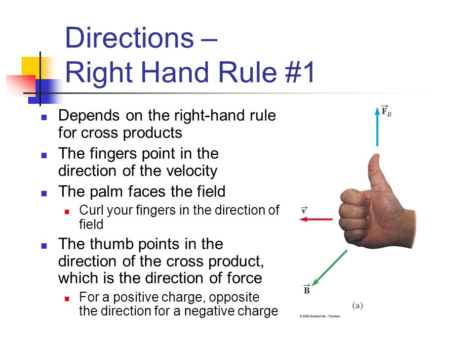 Directions – Right Hand Rule #1