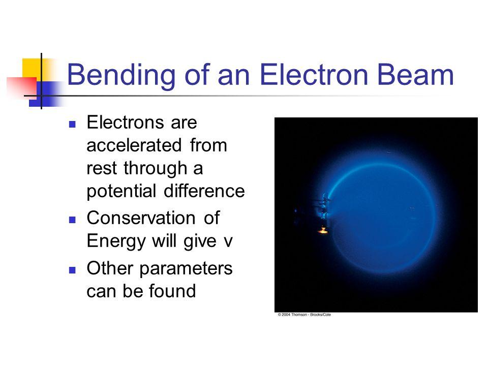 Bending of an Electron Beam