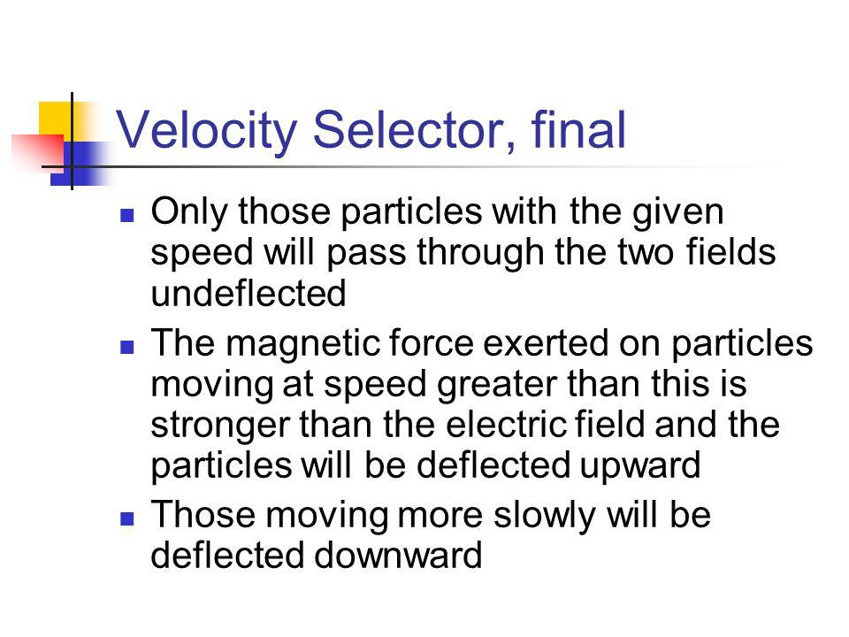 Velocity Selector, final