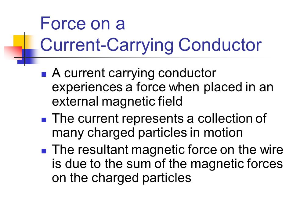 Force on a Current-Carrying Conductor