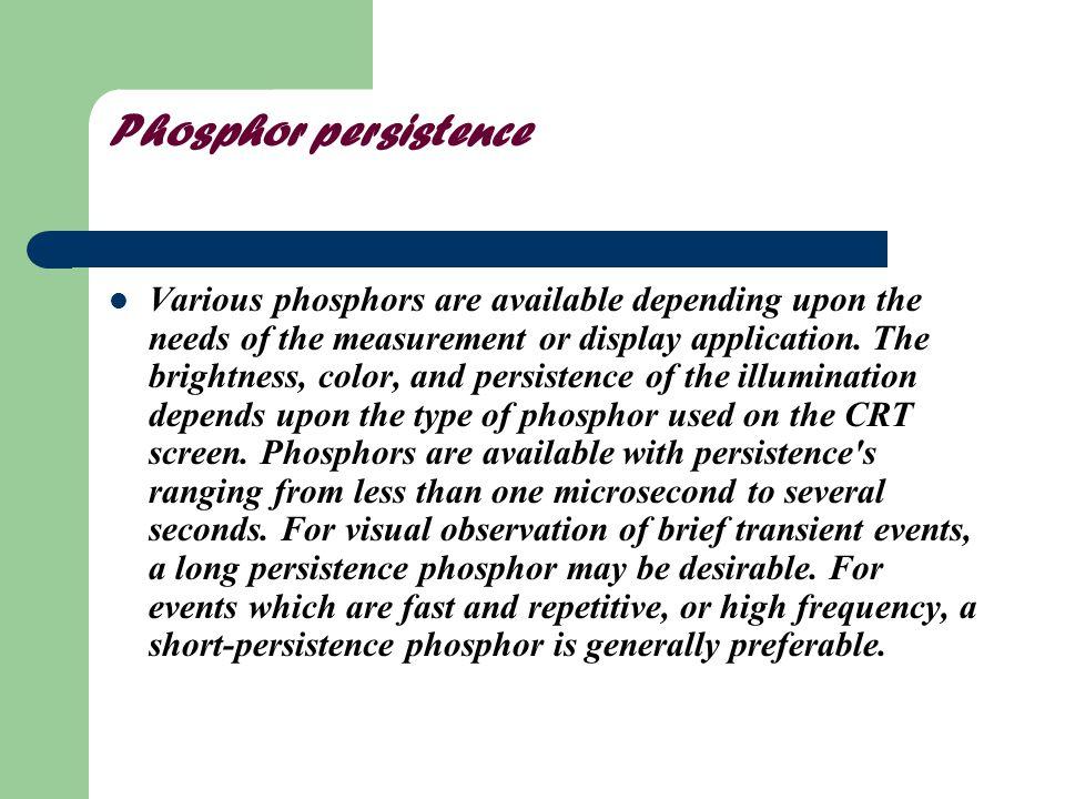 Phosphor persistence