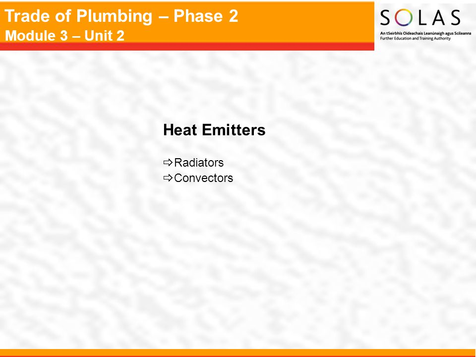 Heat Emitters Radiators Convectors