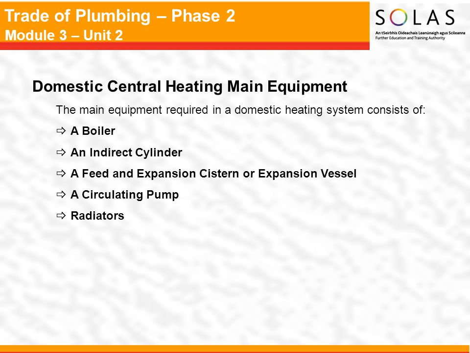 Domestic Central Heating Main Equipment
