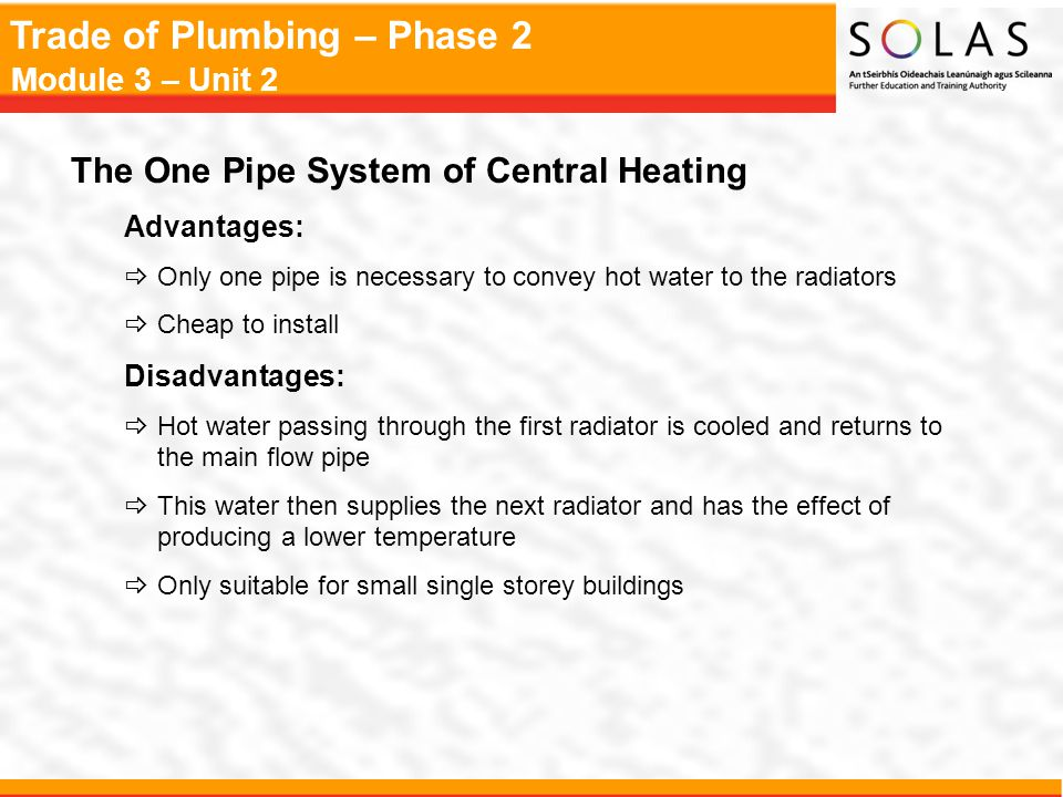 The One Pipe System of Central Heating