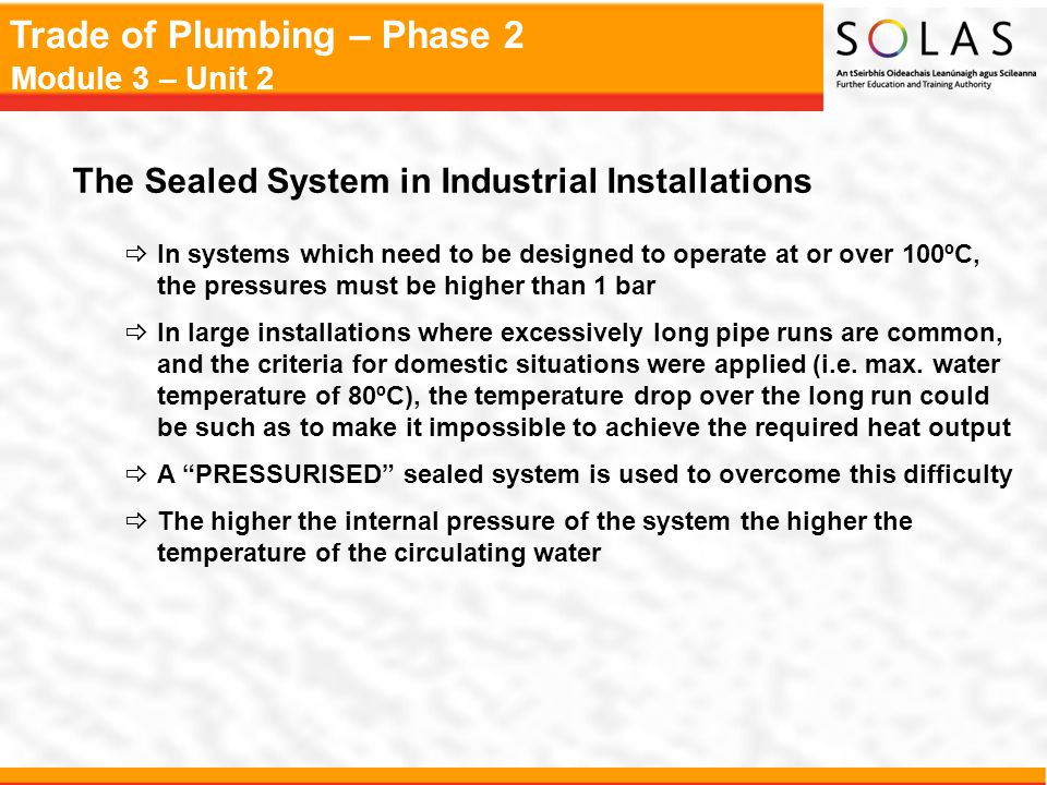 The Sealed System in Industrial Installations