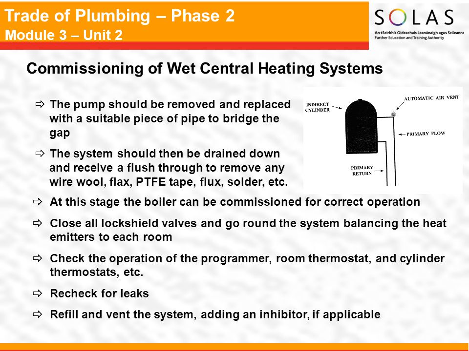 Commissioning of Wet Central Heating Systems
