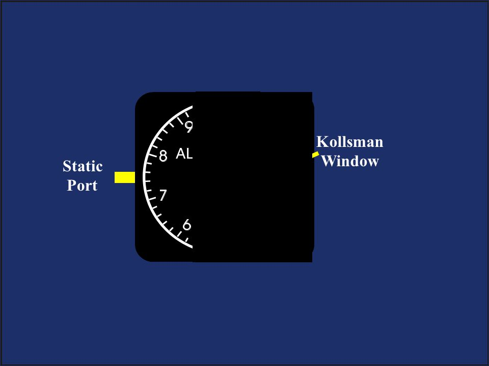 Kollsman Window Static Port