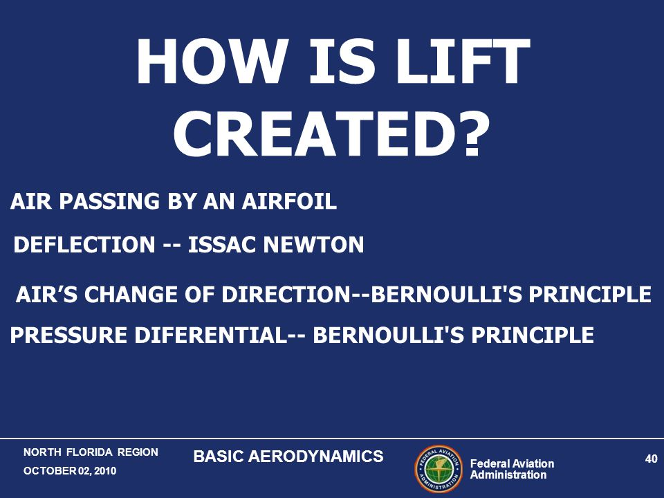 HOW IS LIFT CREATED AIR PASSING BY AN AIRFOIL