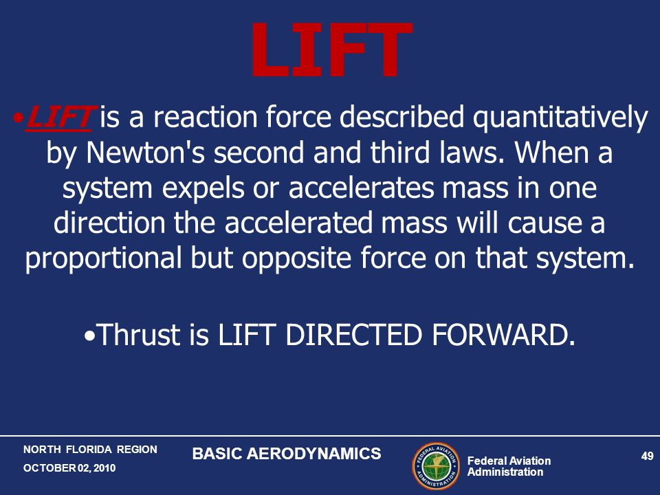 Thrust is LIFT DIRECTED FORWARD.
