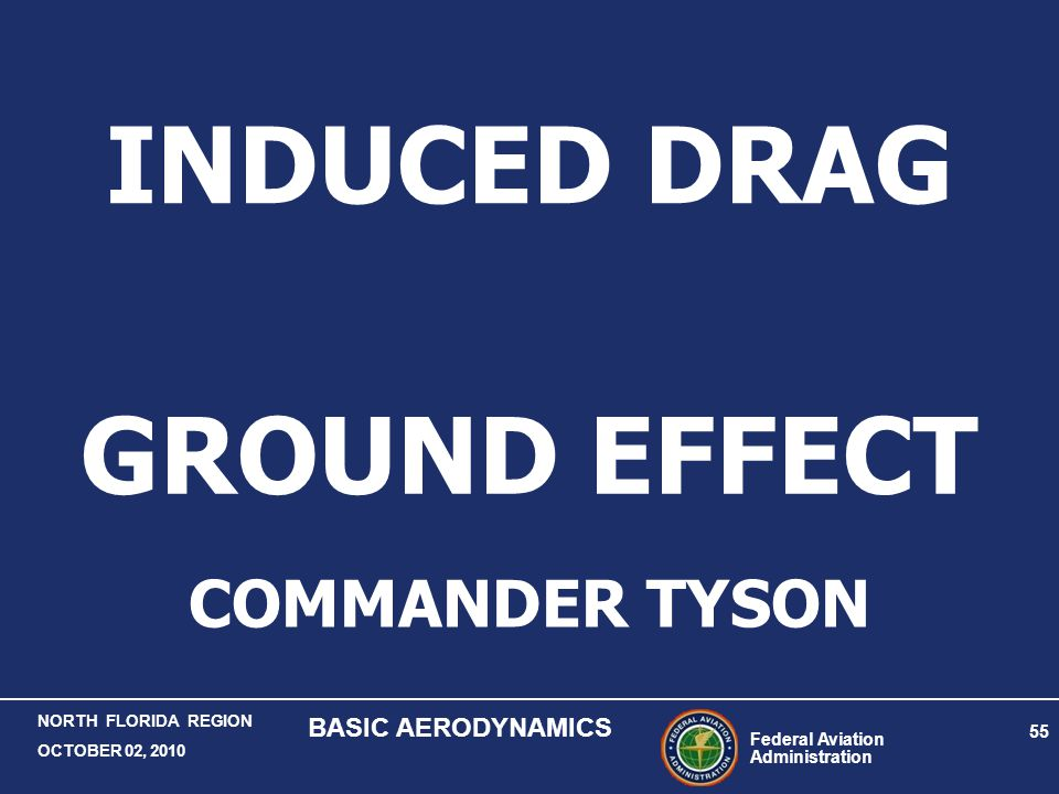 INDUCED DRAG GROUND EFFECT