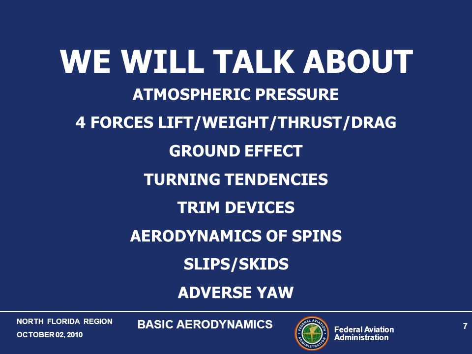 4 FORCES LIFT/WEIGHT/THRUST/DRAG