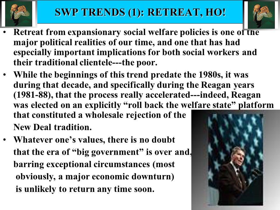 SWP TRENDS (1): RETREAT, HO!