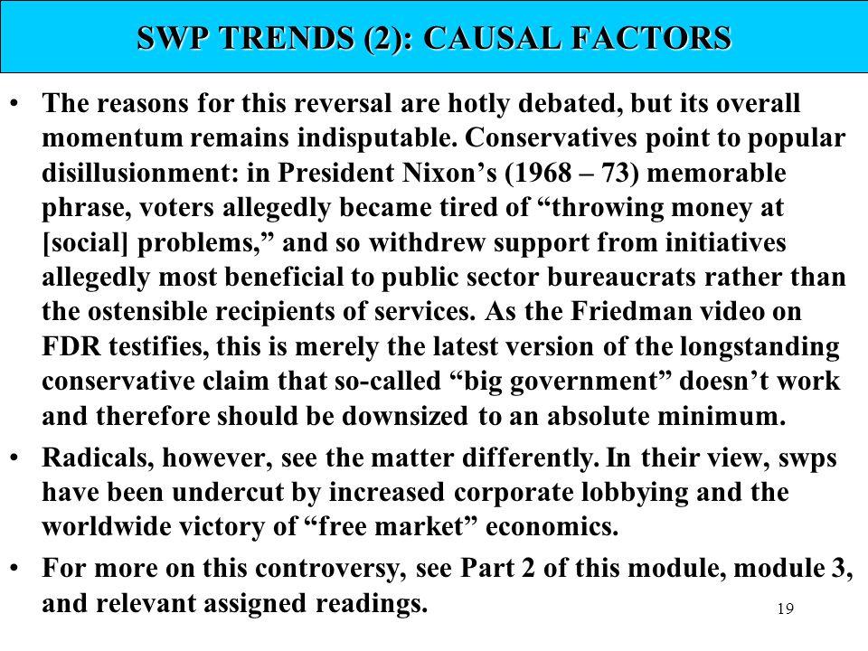SWP TRENDS (2): CAUSAL FACTORS