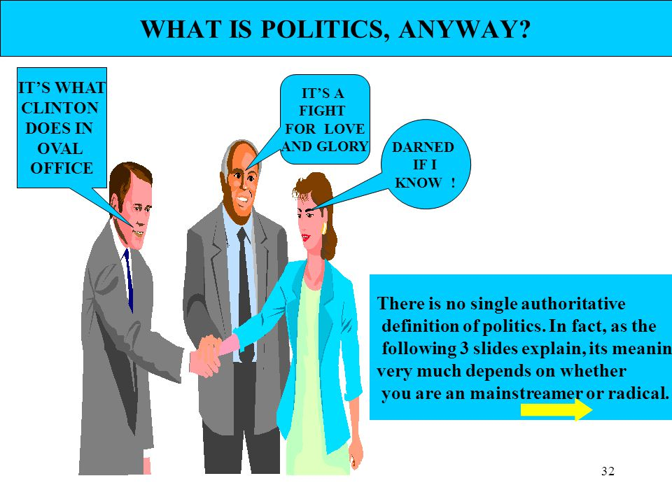 WHAT IS POLITICS, ANYWAY