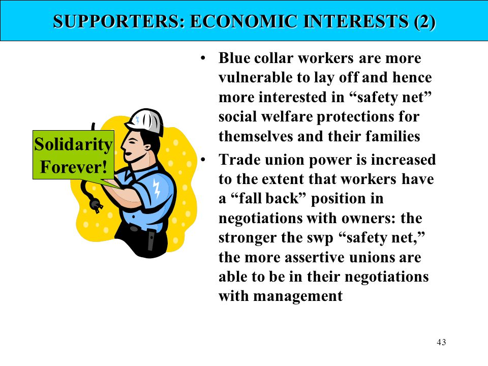 SUPPORTERS: ECONOMIC INTERESTS (2)