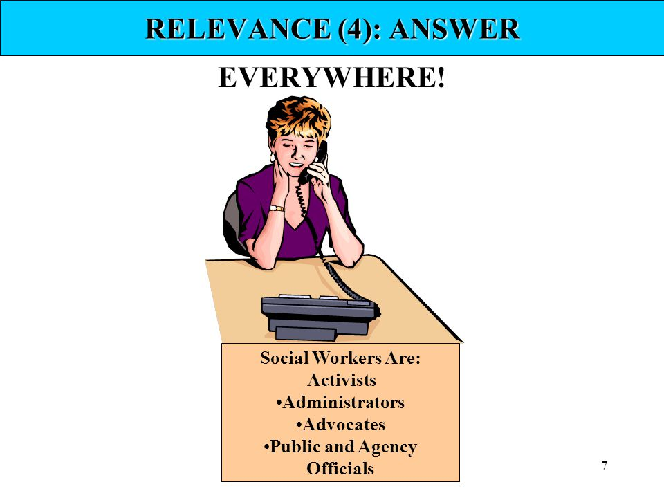 RELEVANCE (4): ANSWER EVERYWHERE!