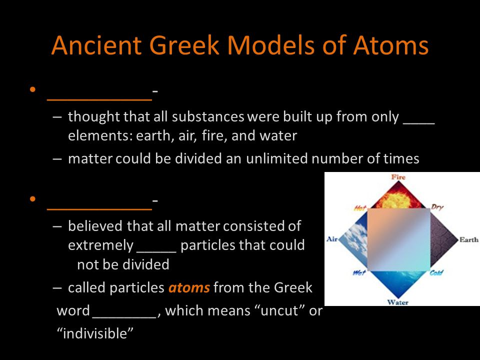 Ancient Greek Models of Atoms