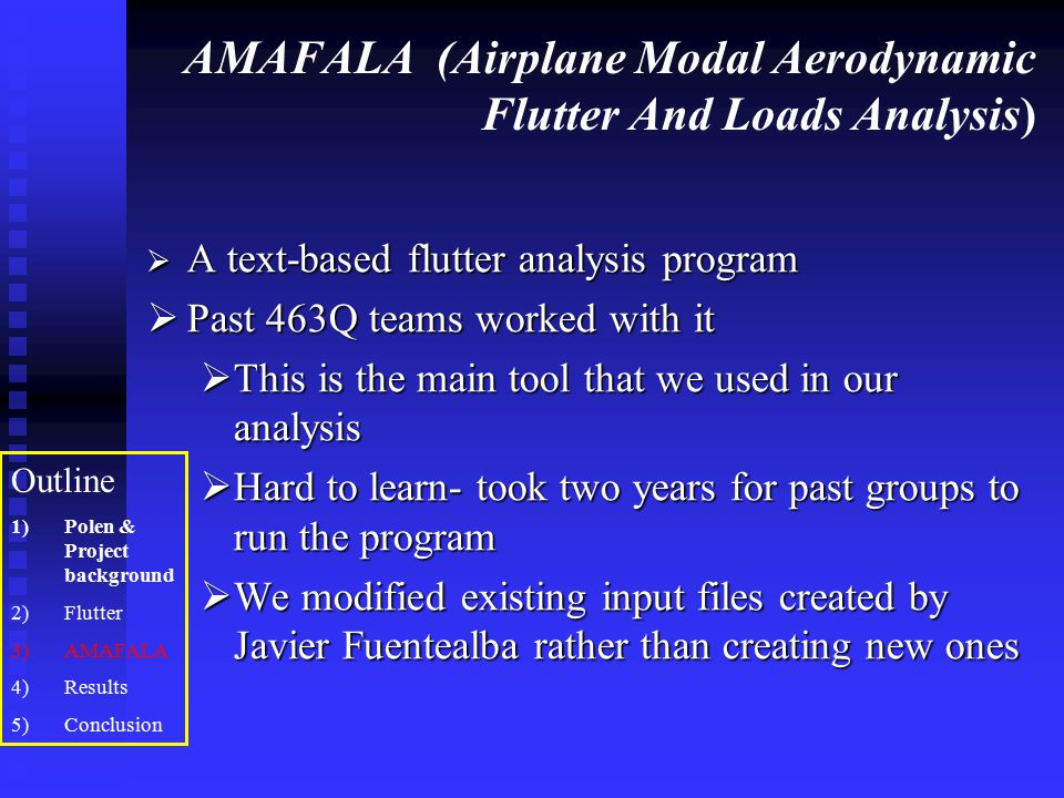 AMAFALA (Airplane Modal Aerodynamic Flutter And Loads Analysis)