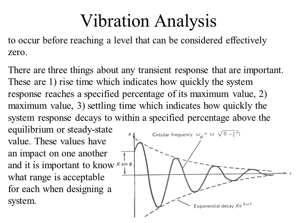 Vibration Analysis to occur before reaching a level that can be considered effectively zero.
