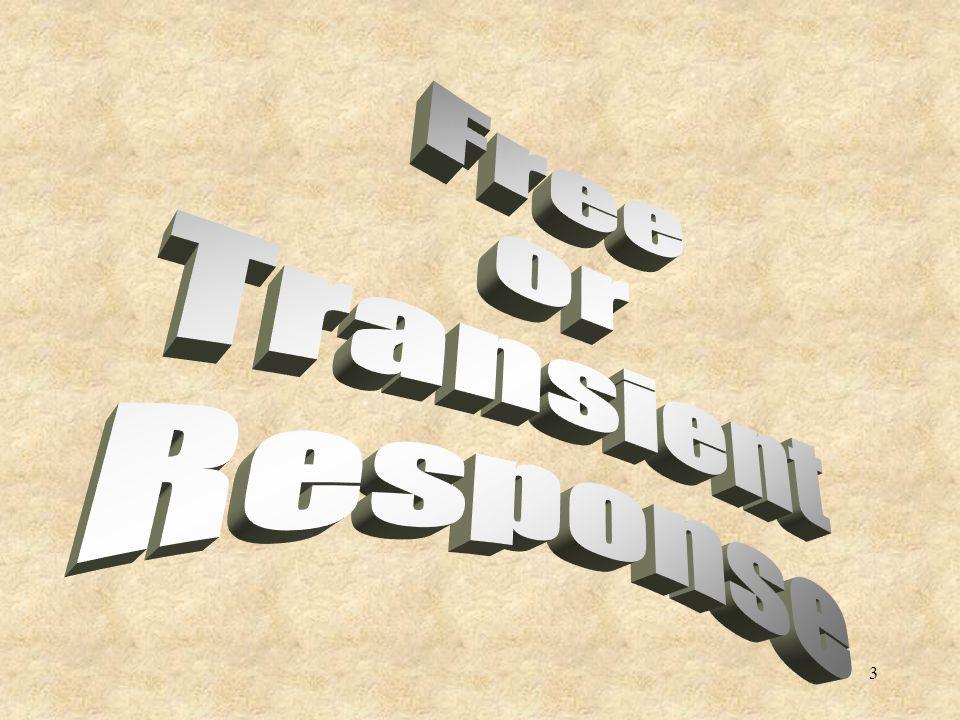 Free or Transient Response