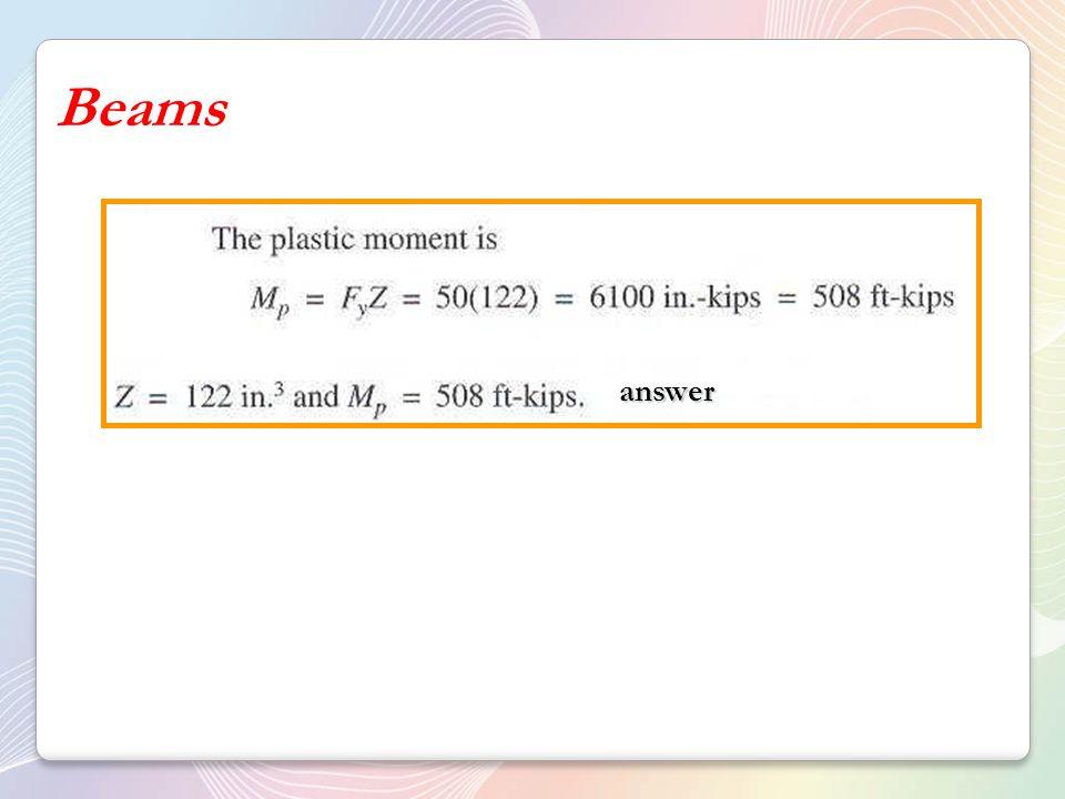 Beams answer