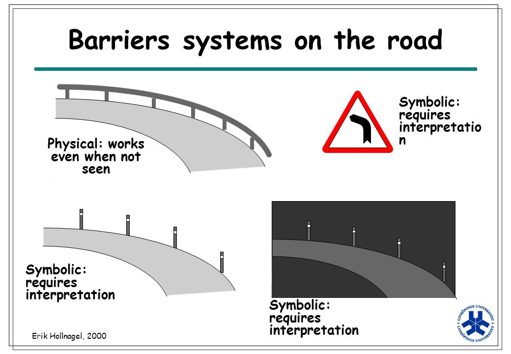 Barriers systems on the road