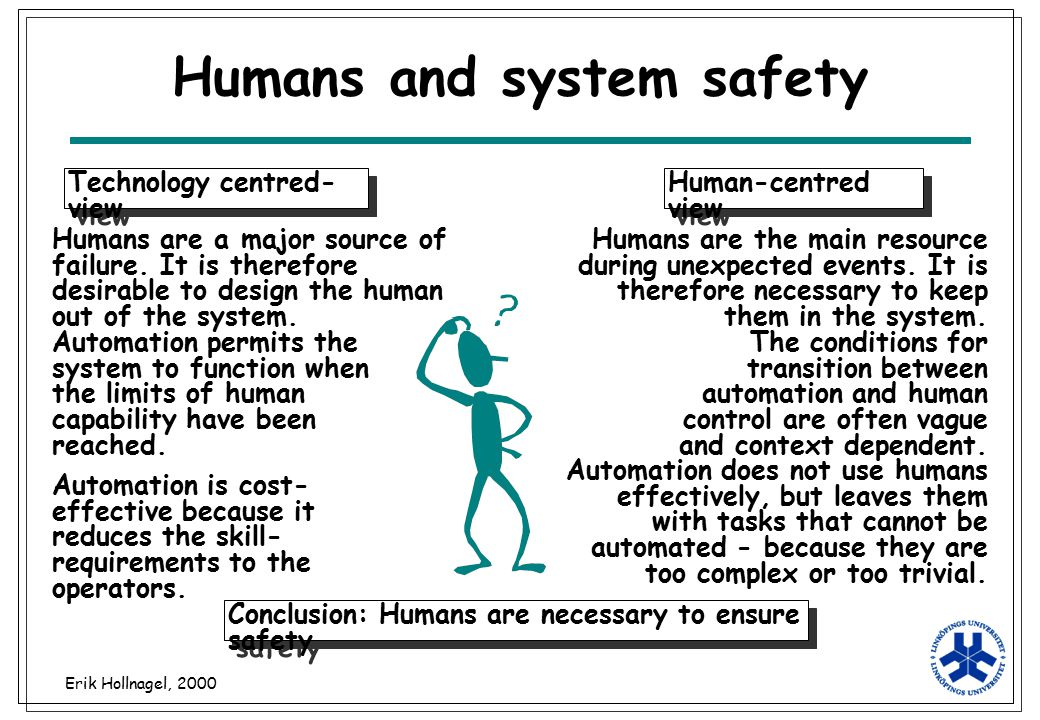 Humans and system safety