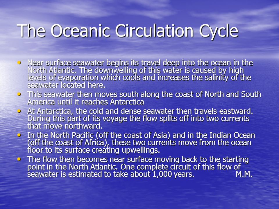 The Oceanic Circulation Cycle
