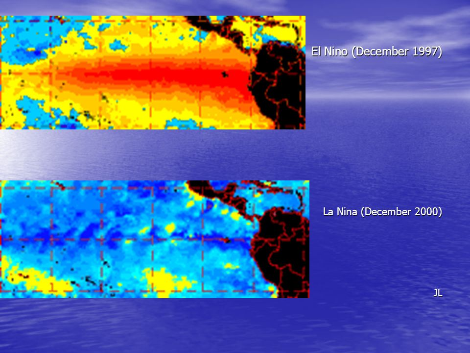 El Nino (December 1997) La Nina (December 2000) JL