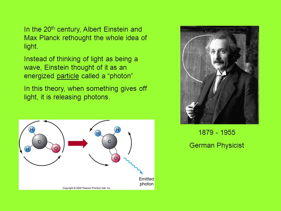 In the 20th century, Albert Einstein and Max Planck rethought the whole idea of light.