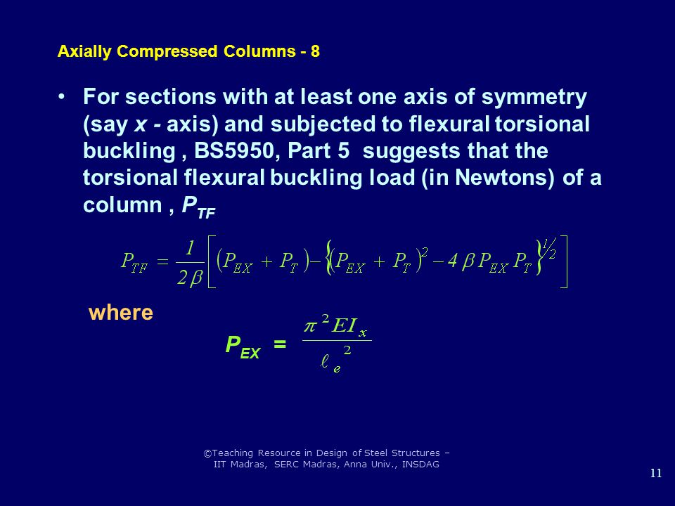 Axially Compressed Columns - 8