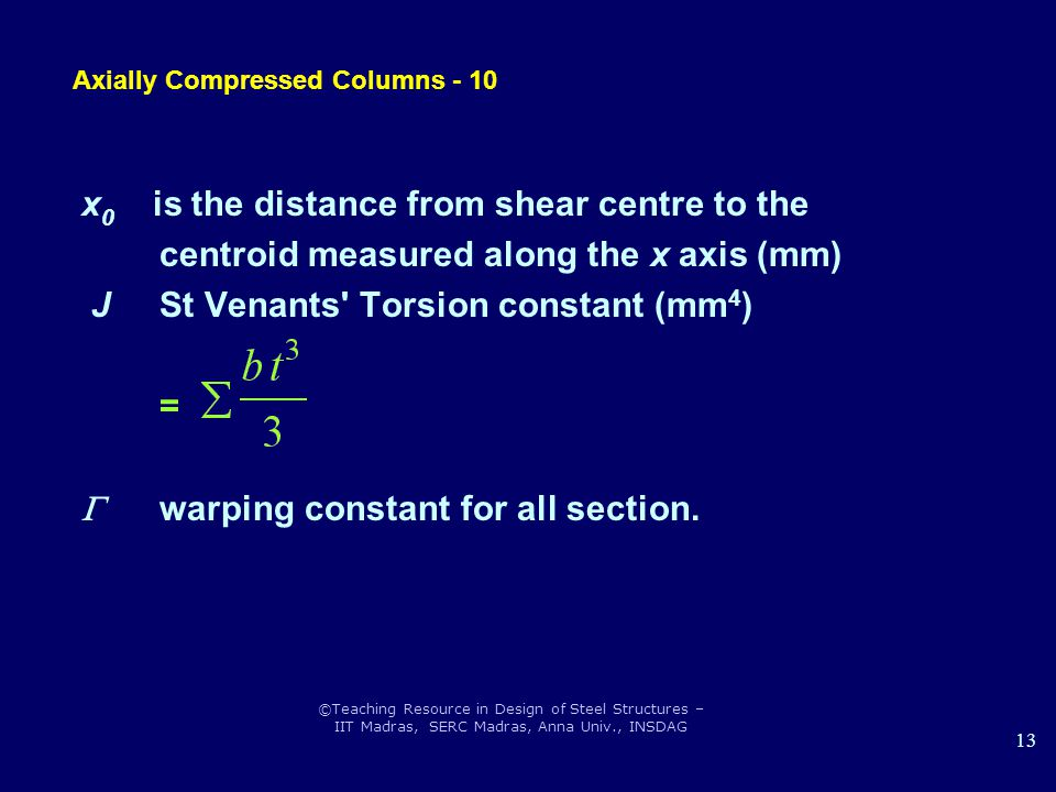 Axially Compressed Columns - 10
