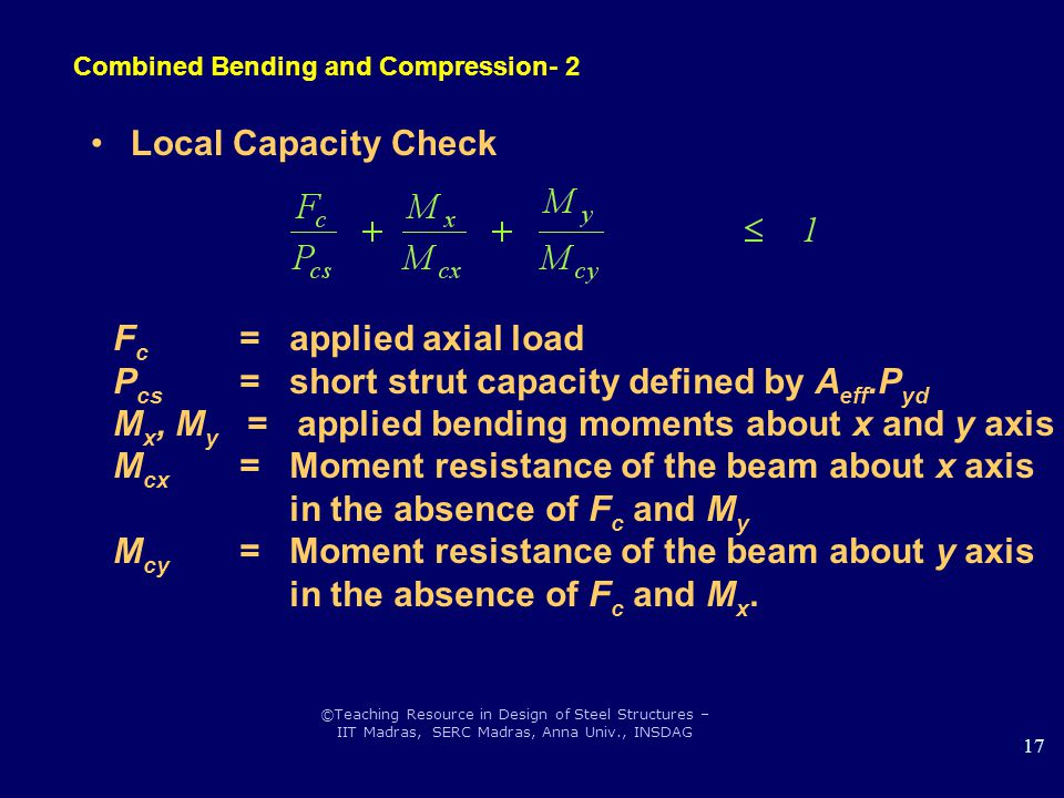 Combined Bending and Compression- 2