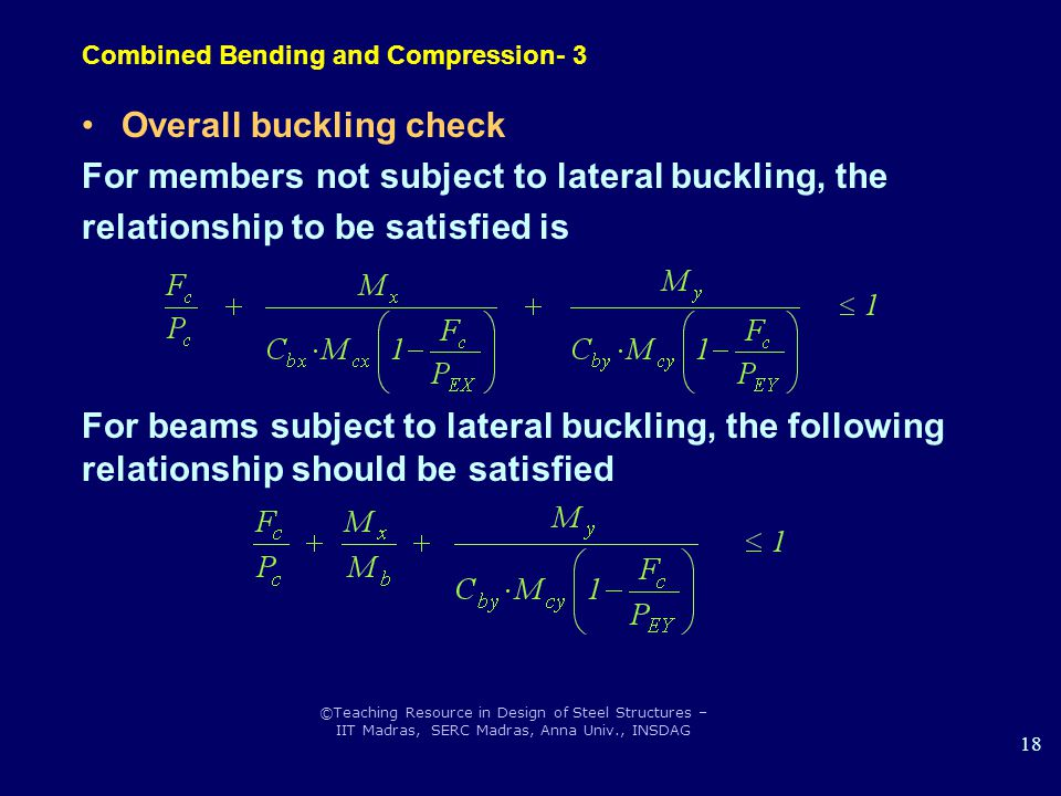 Combined Bending and Compression- 3