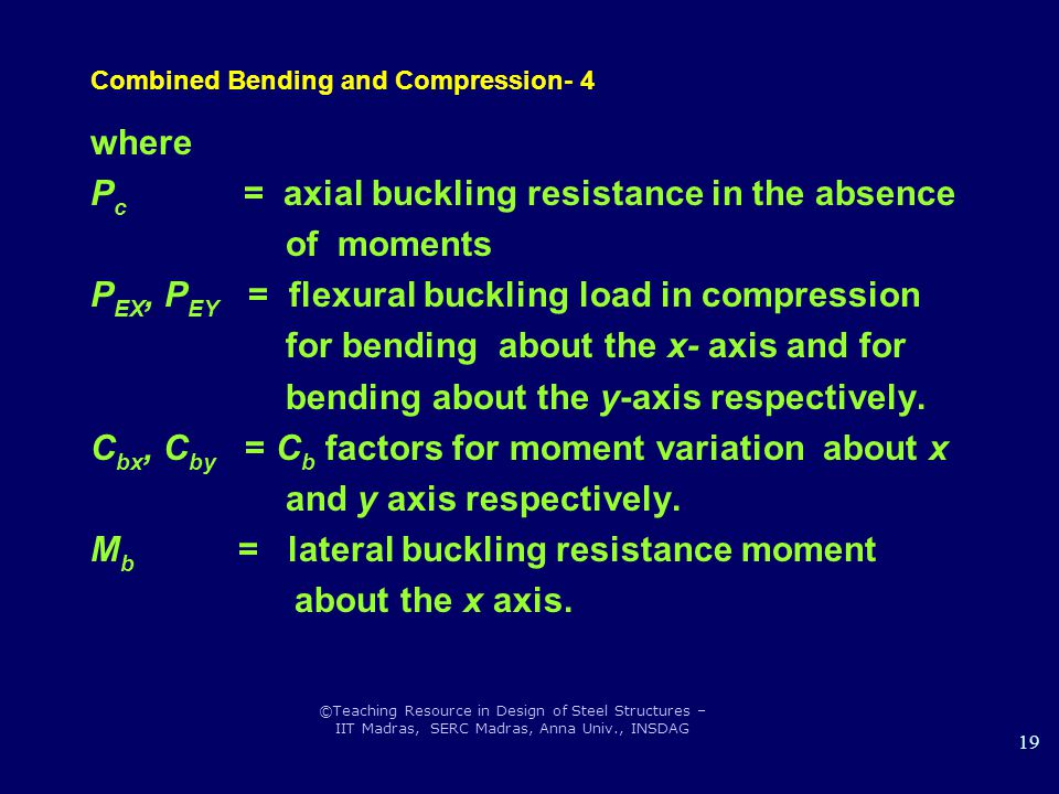 Combined Bending and Compression- 4