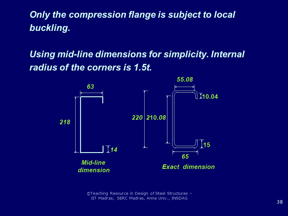 Only the compression flange is subject to local buckling.