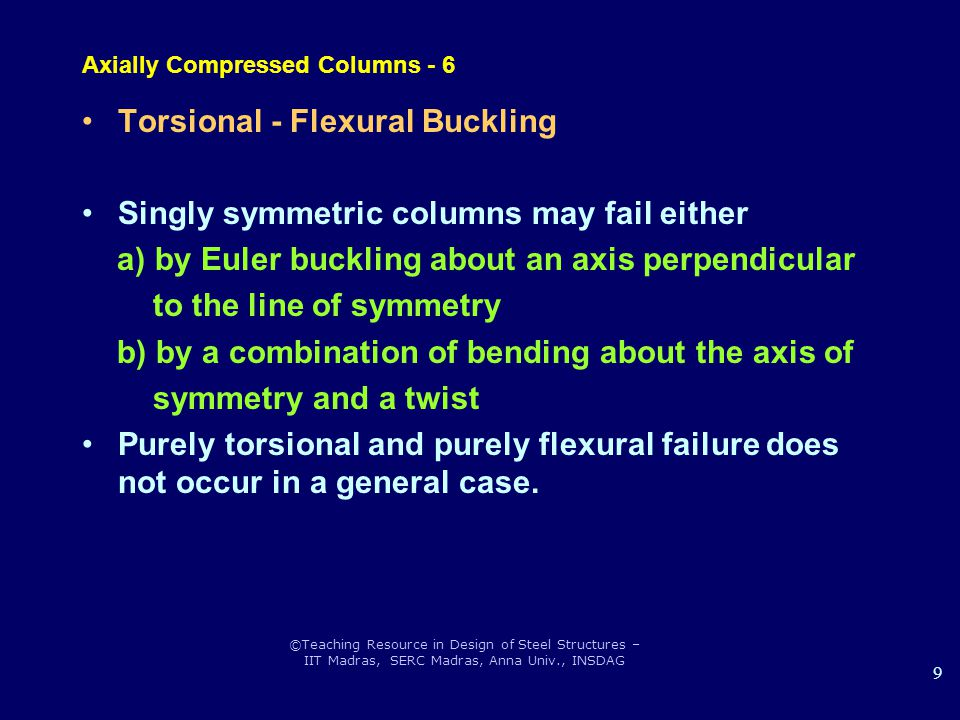 Axially Compressed Columns - 6