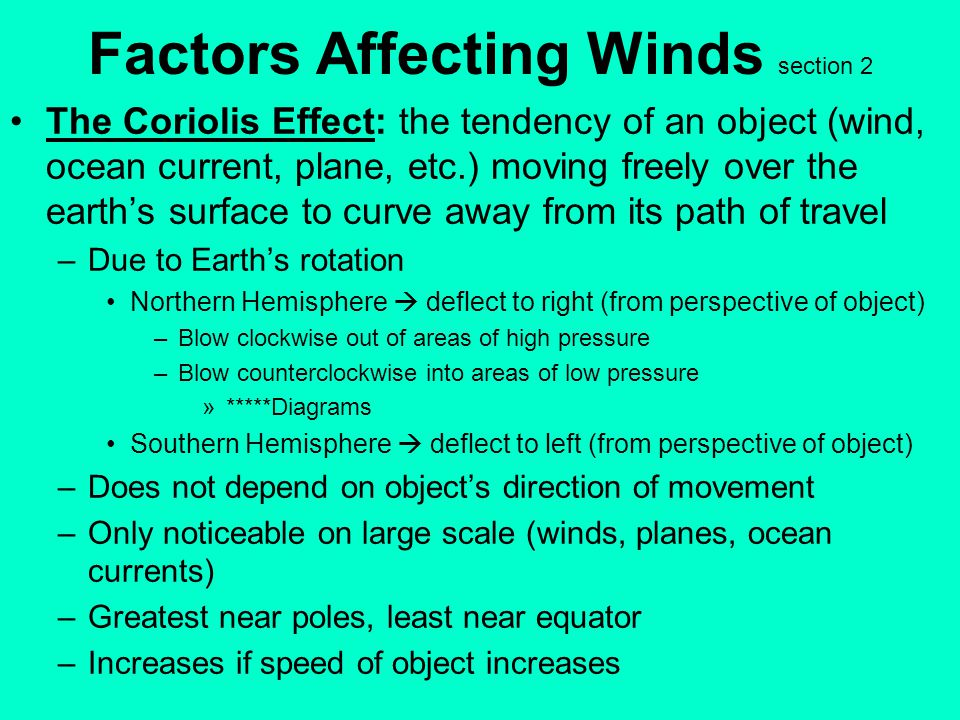 Factors Affecting Winds section 2
