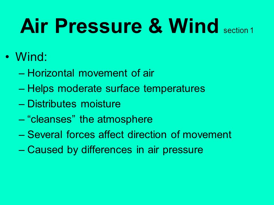 Air Pressure & Wind section 1