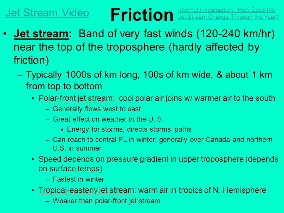 Friction Jet Stream Video