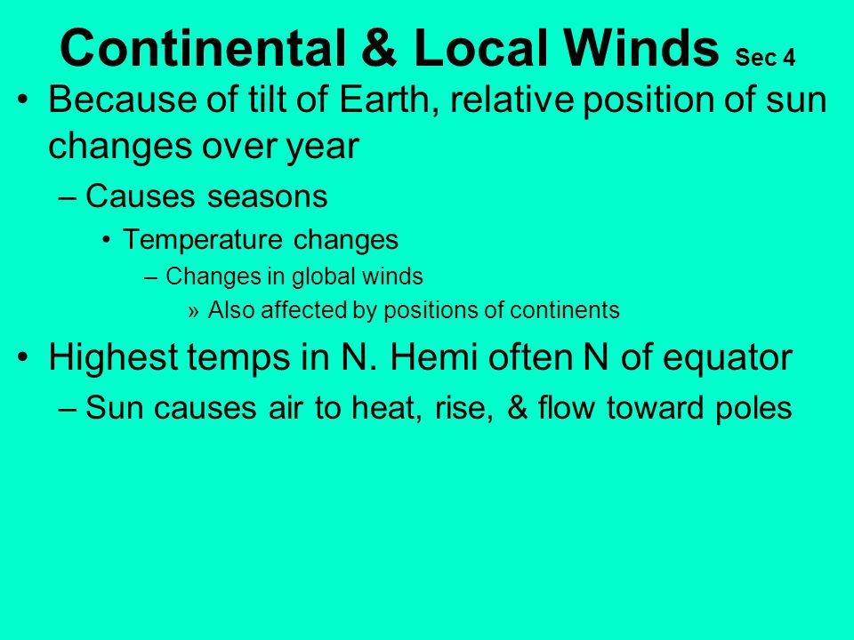 Continental & Local Winds Sec 4