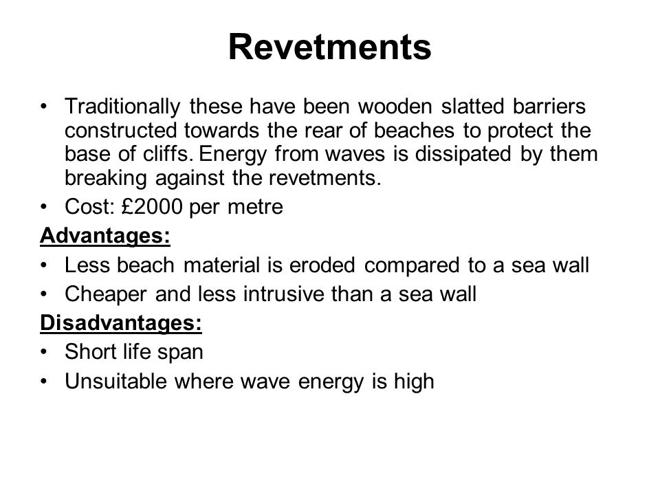 Revetments