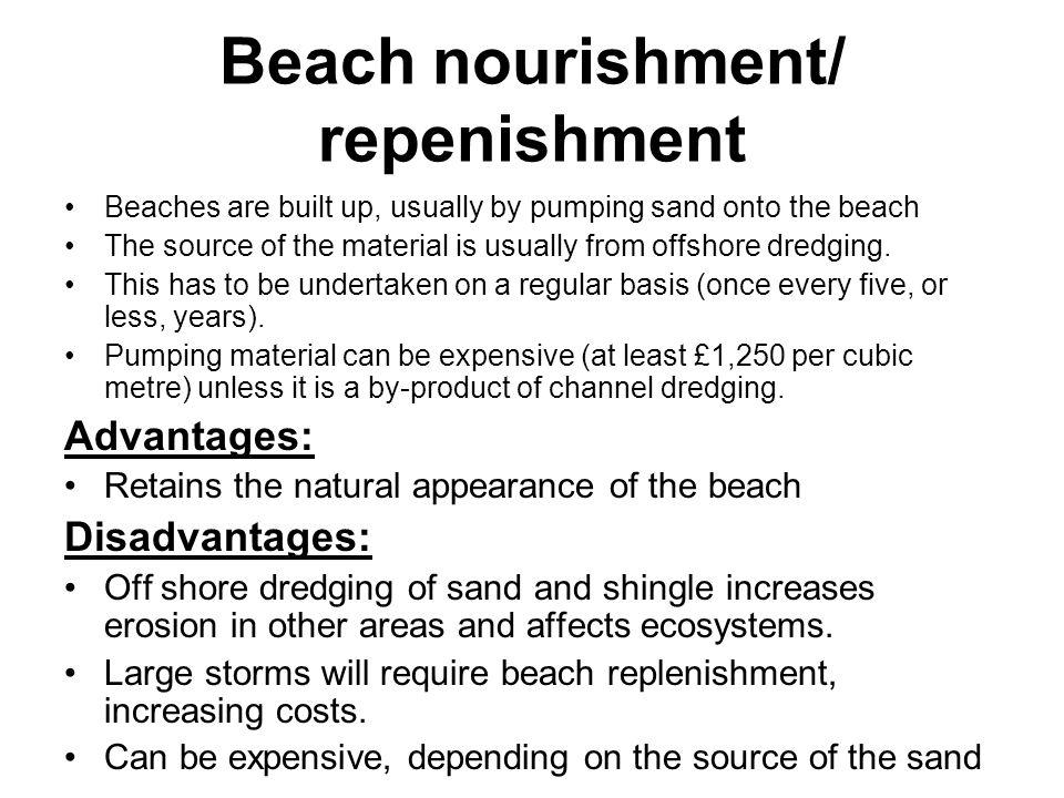 Beach nourishment/ repenishment