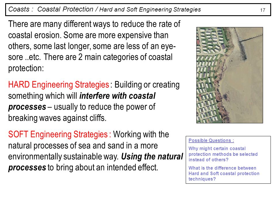 Coasts : Coastal Protection / Hard and Soft Engineering Strategies