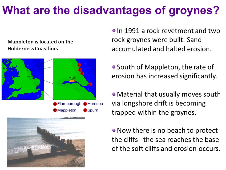 What are the disadvantages of groynes