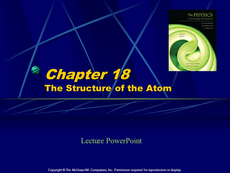 Chapter 18 The Structure of the Atom