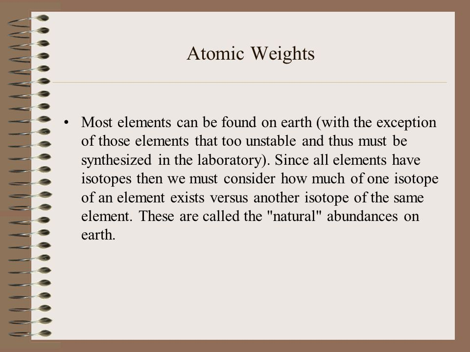 Atomic Weights