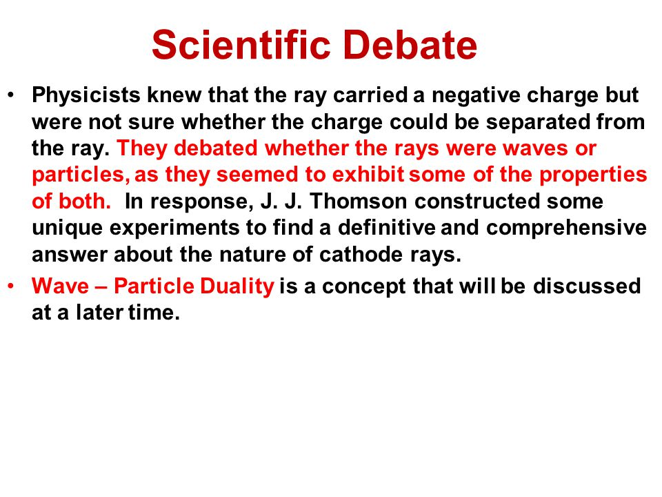 Scientific Debate