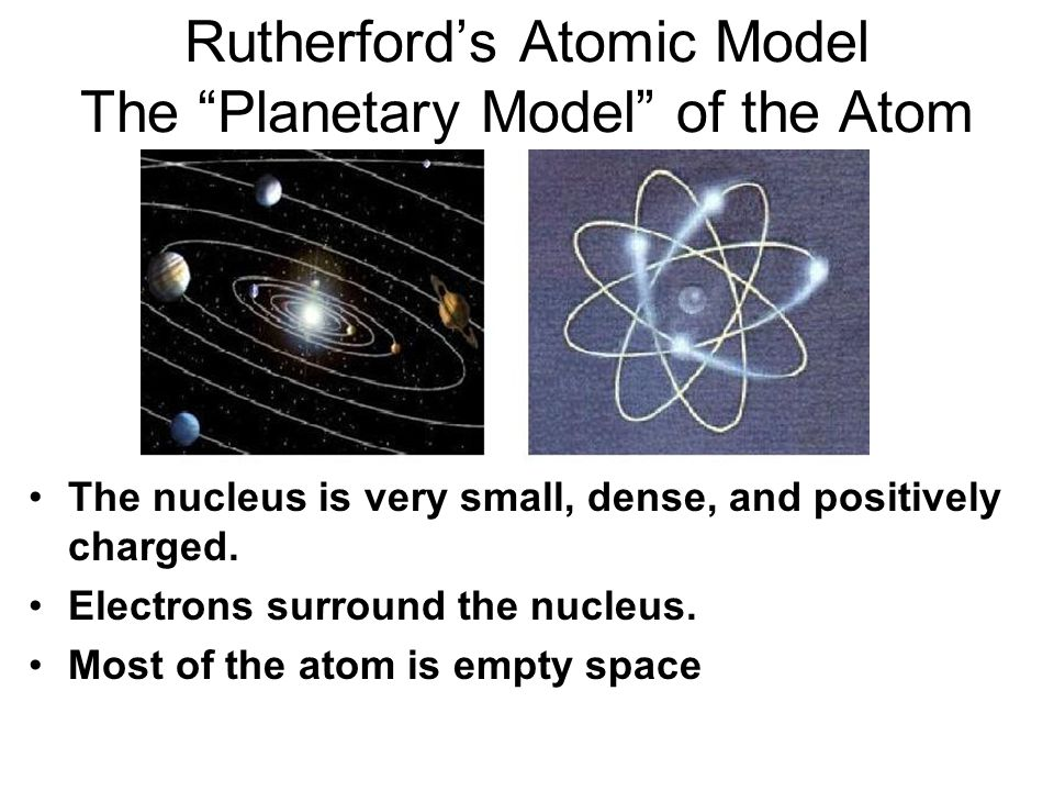 Rutherford's Atomic Model The Planetary Model of the Atom